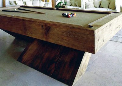 7ft Cantilever bespoke pool table mid-stained Oak