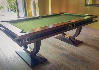 Continental BR 8ft US pool table - Dark Oak and Brass