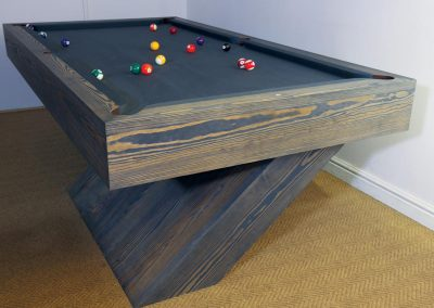 Bespoke 8ft Pool table - wire-brushed SYP