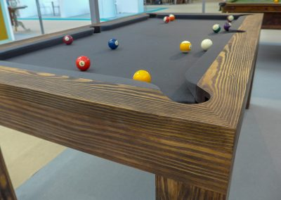 Wire-brushed 6ft Spur bespoke pool table