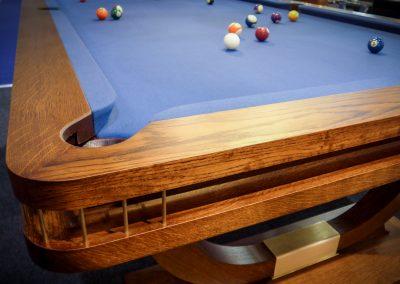 9ft Bronze Oak Continental-BR Snooker-diner