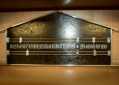 Pediment Snooker Scoreboard Black-Burr and metal