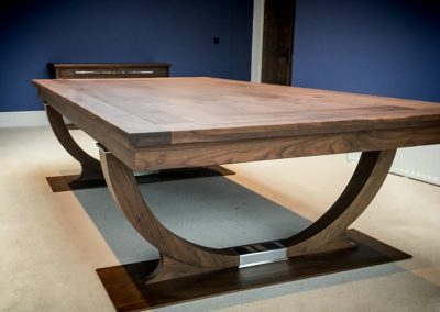 Walnut Continental Rollover Pool dining table