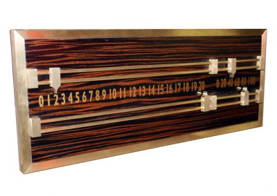 Macassar and Brass Snooker Scoreboard