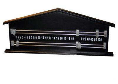 Pediment-Snooker-Scoreboard in Black with metal detail