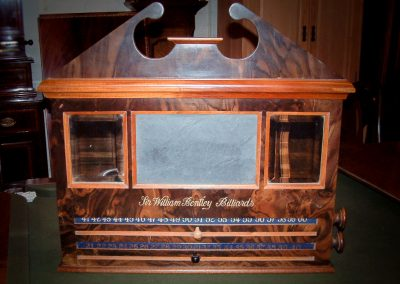 Bentley Large Pediment Roller-scoreboard - Burr Walnut