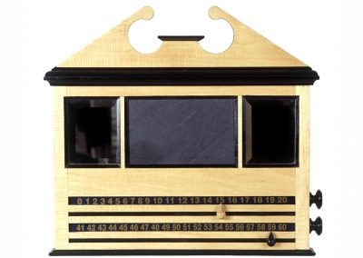 Bentley Large Pediment Roller-scoreboard - Maple & Ebony