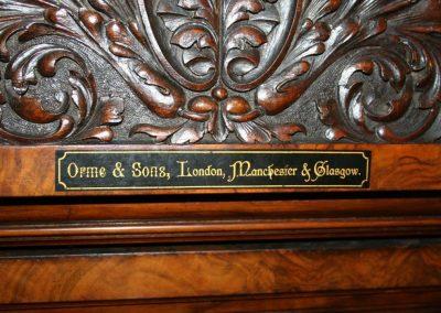 Antique-Orme-Burr-billiard-table-Makers-name