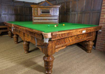 Orme-Burr-Walnut-Antique-billiard-table-c1896
