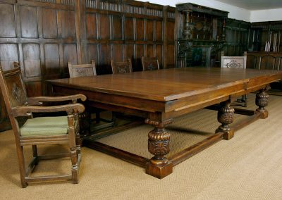 Bentley Refectory Snooker-Dining table - Carved Jacobean Oak