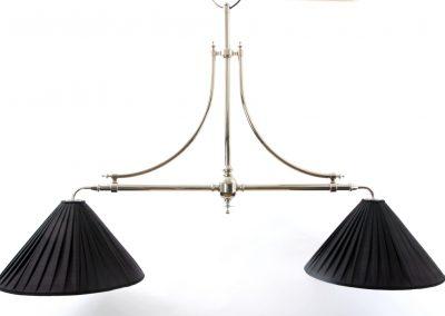Silver Nickel 2 Lamp Marlborough Billiard light