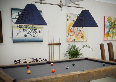 2 lamp Marlborough billiard light over Spur Pool table
