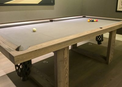 Camargue 8ft Pool-table, Black-washed Ash
