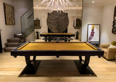 Continental-Pool-table-Grey-Ash-Brass-inlay-Gold-cloth