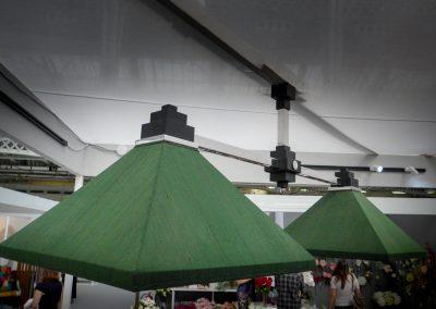Art-Deco Pyramid Pool-table light - Green silk