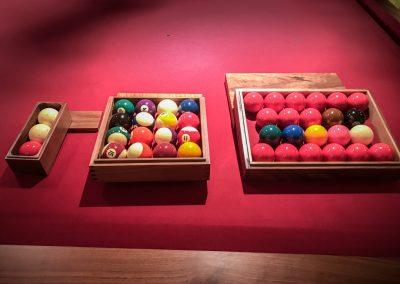 Walnut Ball-boxes Billiards Pool Snooker
