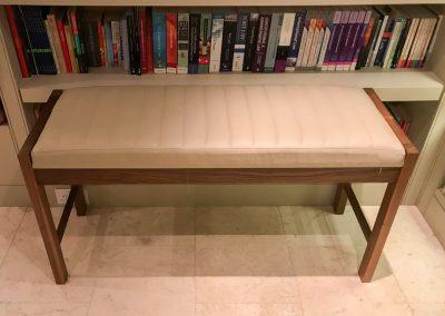 Bespoke Bench for Walnut Lauren Snooker-dining table