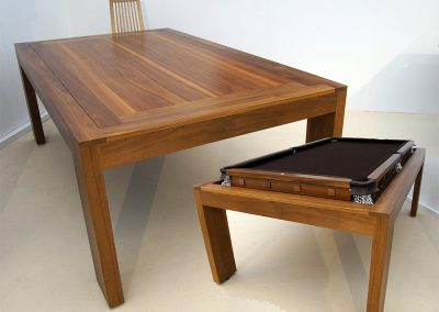 Bespoke Walnut Speed Rollover Pool Dining table