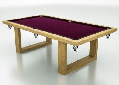 Camargue Pool table drawing - Natural-Oak