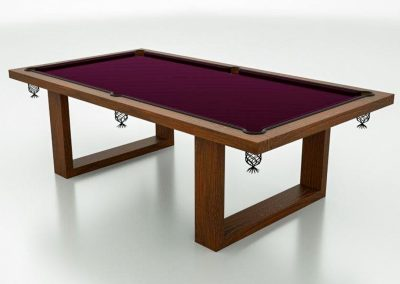 Camargue Pool table drawing - Dark-Oak