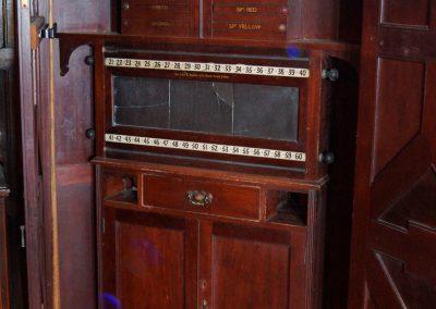 Orme&Sons Arts&Crafts Oak billiard marker cabinet