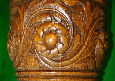 Green Man Billiard table Carving detail