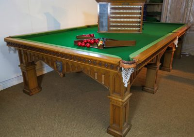 Burrouges-and-Watts-Gothic-Oak-Antique-billiard-table