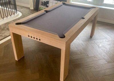 Bespoke Speed design Pool table 6ft Oak