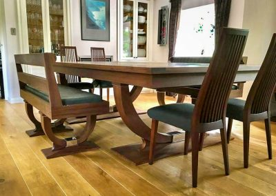 Continental Rollover Snooker dining table with matching chairs and folding benches