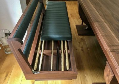 Folding Benches with Snooker Cue storage